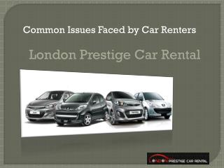 Common Issues Faced by Car Renters