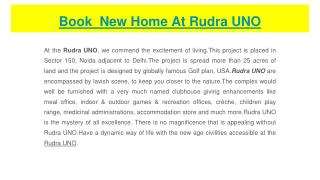 New Flats Available At Rudra UNO
