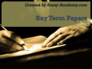 Buy Term Papers