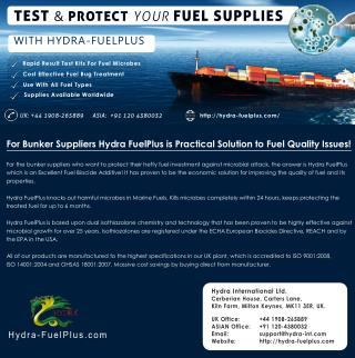 Best Fuel Additive Hydra FuelPlus - Prevents Microbial Contamination in Fuel Storage Tanks