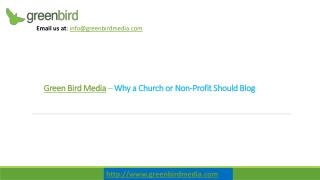 Non Profit Web Design - Why a Church or Non-Profit Should Blog