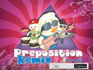 Preposition remix - Help your children create grammatically correct sentences