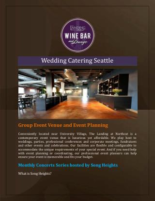 Wedding Catering Seattle