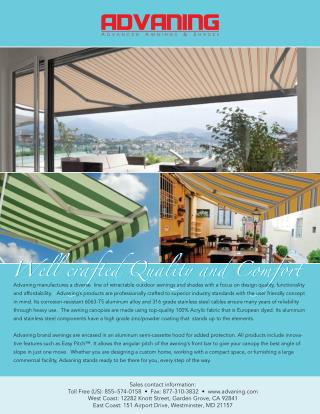 Advaning � Awnings and Shades Specialist  Firm