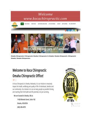 Chiropractor Omaha
