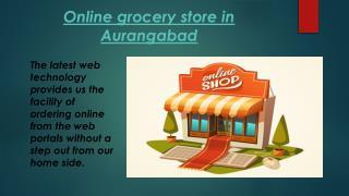 Online grocery store in Aurangabad