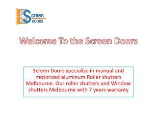 Aluminum roller shutters in Melbourne