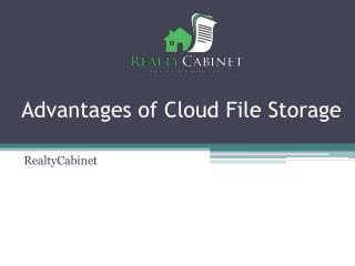 Advantages of Cloud File Storage