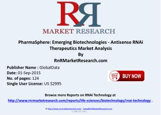 PharmaSphere Emerging Biotechnologies Antisense RNAi Therapeutics Market Analysis RNAi Clinical Trials