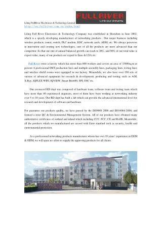 Liling FullRiver Electronics & Technology Limited