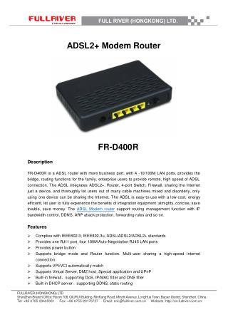 ADSL2  Modem Router