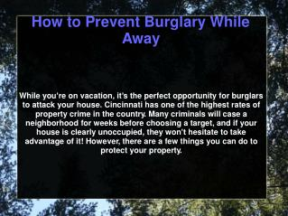Preventing Burglary  with professional Locksmith