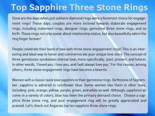 Top 10 Sapphire Three Stone Rings