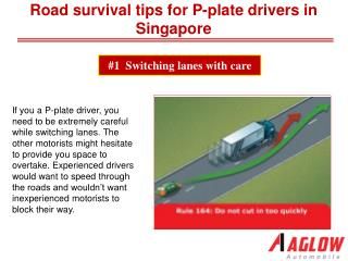 Road survival tips for P-plate drivers in Singapore