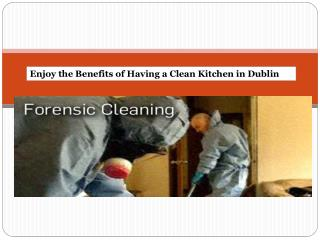 Enjoy the Benefits of Having a Clean Kitchen in Dublin