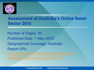 Australia Online Retail Market Sales to reach $16.6 billion in 2015