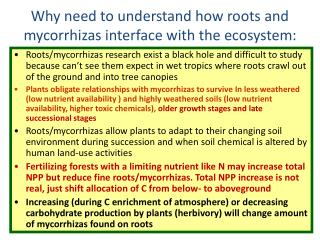 Why need to understand how roots and mycorrhizas interface ...