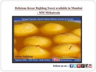 Delicious Kesar Rajbhog Sweet available in Mumbai - MM Mithaiwala