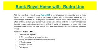Book Royal Home With Rudra Uno
