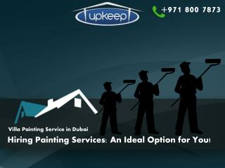 Hiring Villa Painting Services in Dubai