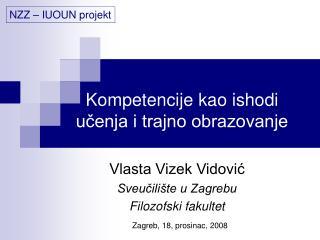 Kompetencije kao ishodi ucenja i trajno obrazovanje
