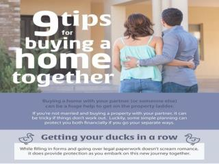 9 tips for buying a home with a partner