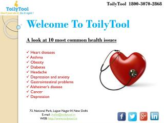 10 Most common health issues - ToilyTool India