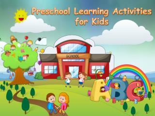 Preschool Learning Activities for Kids