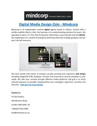 Digital Media Design Oslo - Mindcorp
