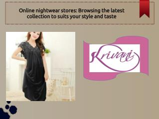 Night Dress Online For Woman In Best Fabric Collection