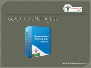 Government Mailing List - Government Database - Government Email List