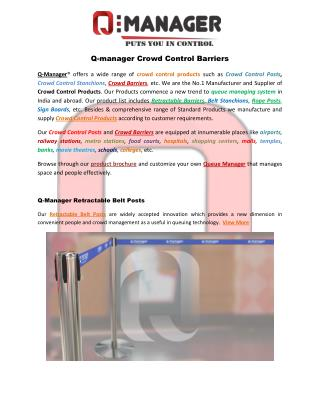 Q-Manager Crowd Control Products