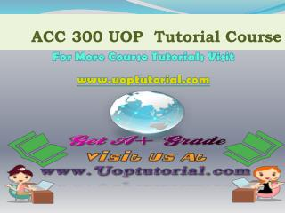 ACC 291 NEW TUTORIAL / Uoptutorial