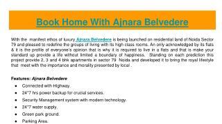 Book Royal Home with  Ajnara Belvedere