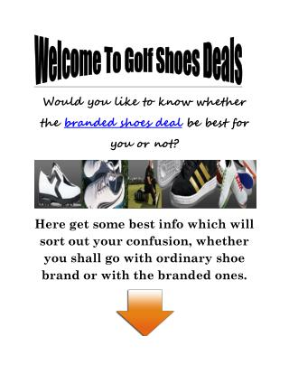 Online Junior Golf Shoes For Sale: Should I Choose Only The Branded One?