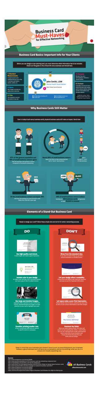 Business Card Must Haves for Effective Networking