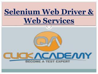 Selenium Web Driver & Web Services