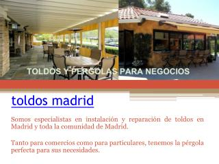 pergolas Madrid