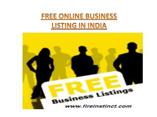 Free Online Business Listing in India