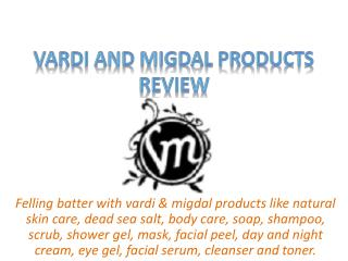 Vardi and Migdal Product Top Reviews