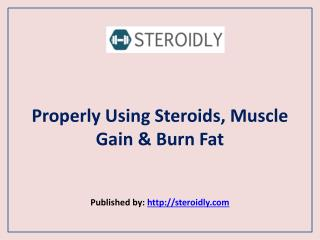 Steroidly-Properly Using Steroids, Muscle Gain & Burn Fat