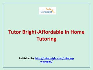 Affordable In Home Tutoring