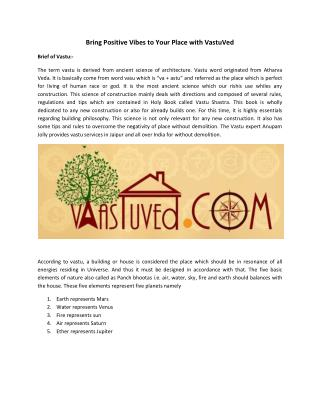 Vastu Shastra Expert Services in Jaipur India | Vaastuved