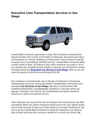 Limousine Service San Diego Ca