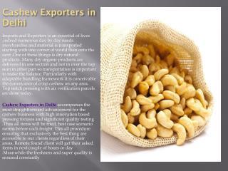 Cashew Exporters in Delhi