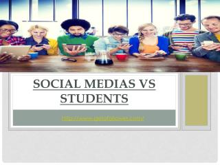 SOCIAL NETWORKS VS STUDENTS