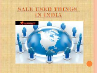 Sale used things in India