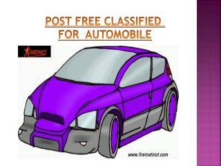 Post Free Classifieds for Automobiles