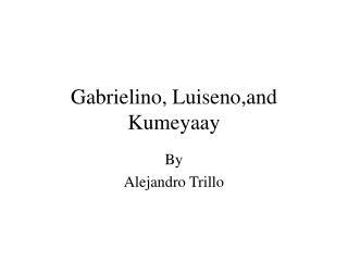 Gabrielino, Luiseno,and Kumeyaay