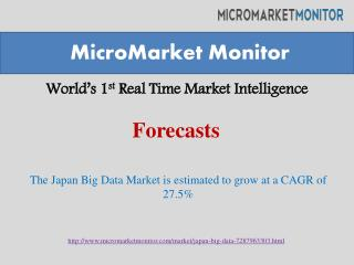 Japan Big Data Market to Reach $1.72 Billion by 2019